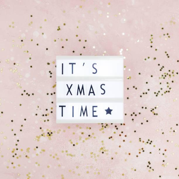 weihnachten kreative komposition - zitate weihnachten stock-fotos und bilder