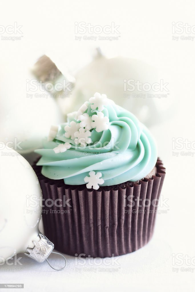 Christmas cupcake royalty-free stock photo
