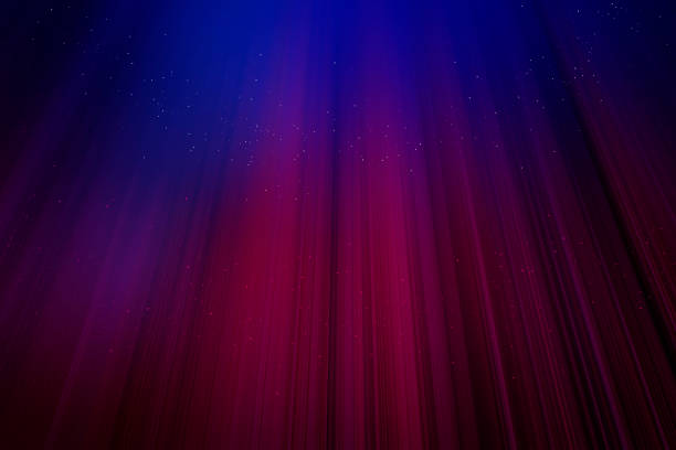 Christmas curtains sparkling Red curtains with blue light background stage light stock pictures, royalty-free photos & images