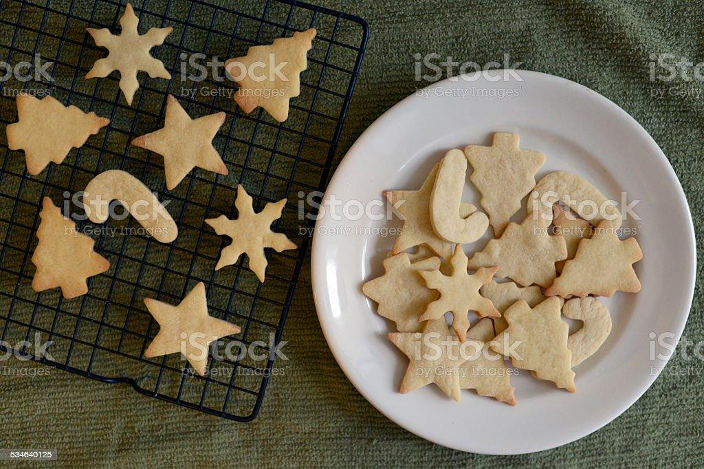 Christmas Cutout Sugar Cookies stock photo
