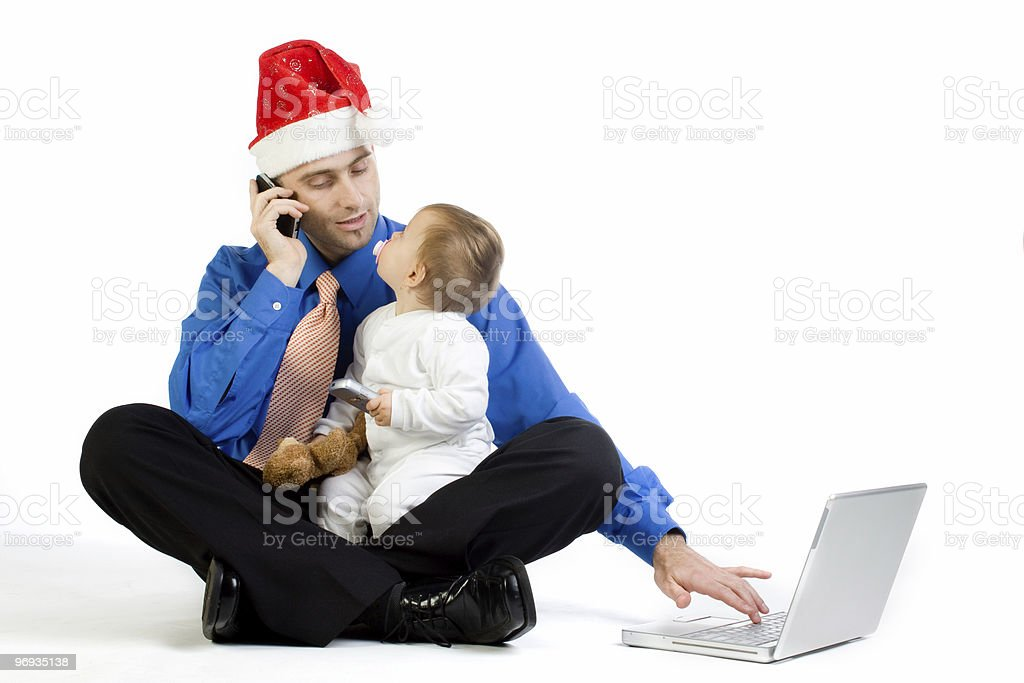 Christmas Dad royalty-free stock photo