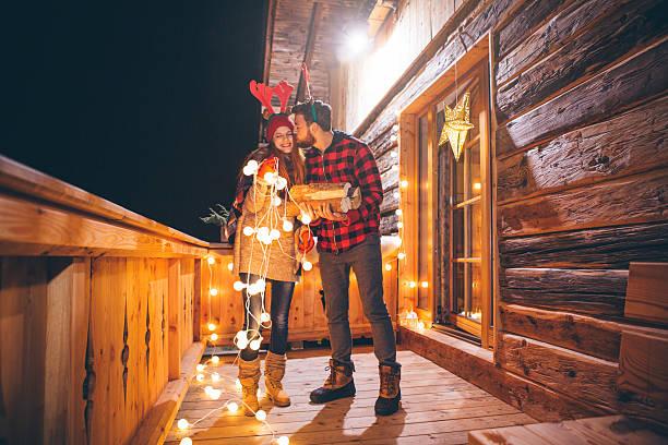 weihnachten daiting. - vorbau dekor stock-fotos und bilder