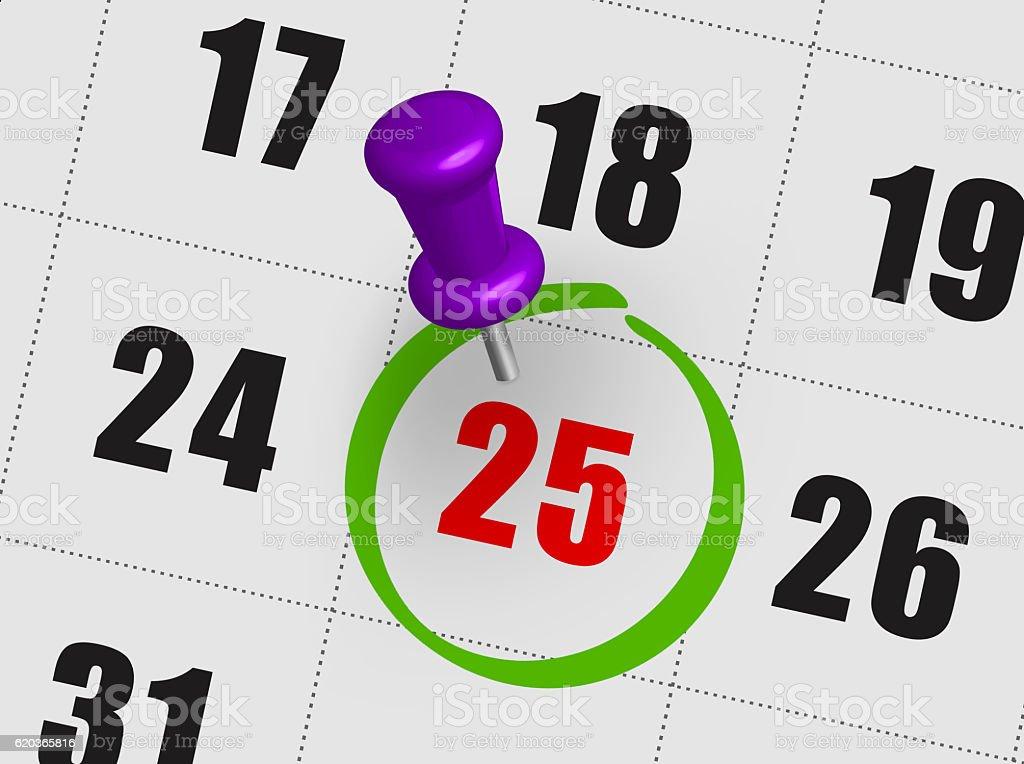 Christmas day calendar on diary zbiór zdjęć royalty-free