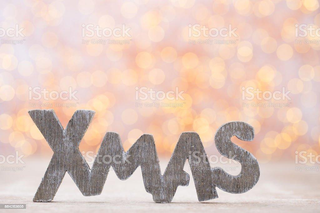 Christmas decor and greeting card. Symbol xmas. royalty-free stock photo