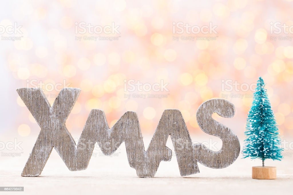 Christmas decor and greeting card. Symbol xmas. royalty-free stock photo
