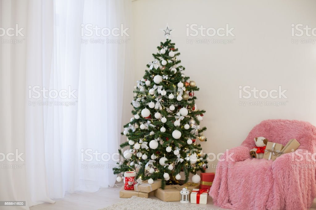 Christmas Tree With Presents.Christmas Decor Christmas Tree With Presents And New Year Stock Photo Download Image Now