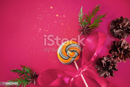 istock Christmas decor - cones, Christmas balls 1189633483