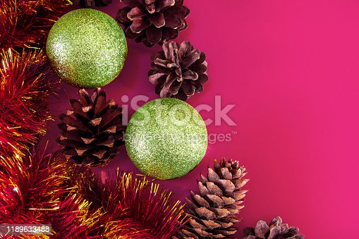 istock Christmas decor - cones, Christmas balls 1189633488