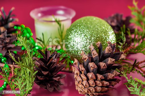 istock Christmas decor - cones, Christmas balls 1189633489