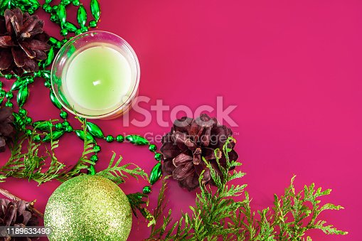 istock Christmas decor - cones, Christmas balls 1189633493