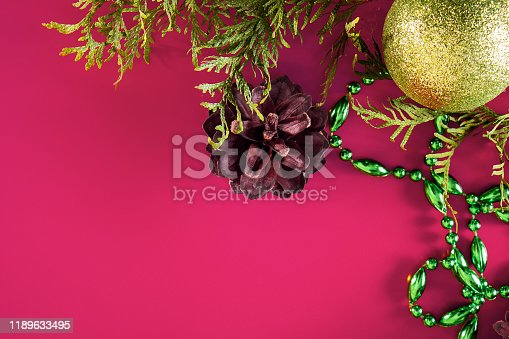 istock Christmas decor - cones, Christmas balls 1189633495