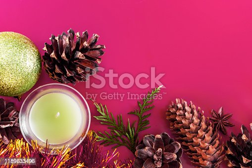 istock Christmas decor - cones, Christmas balls 1189633496