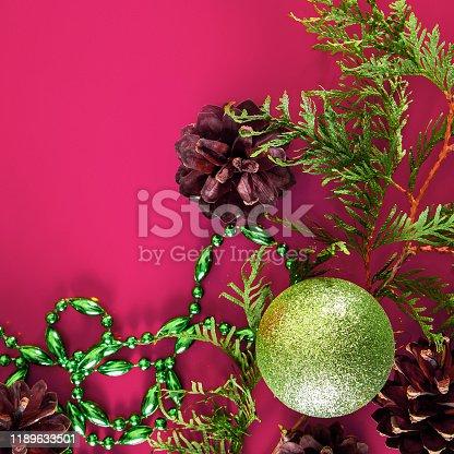 istock Christmas decor - cones, Christmas balls 1189633501