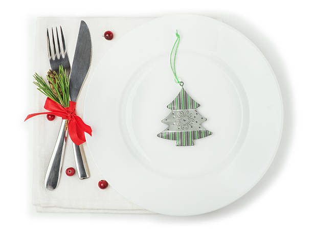 Christmas decor Plate stock photo
