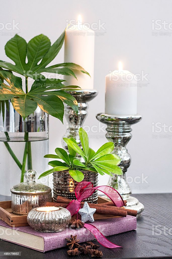Christmas Decor With Tropical Plants Stock Photo Download Image Now Istock