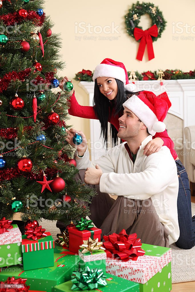 Christmas Decorating royalty-free stock photo