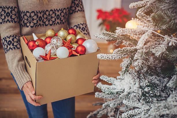 weihnachten dekoration. - vorbau dekor stock-fotos und bilder