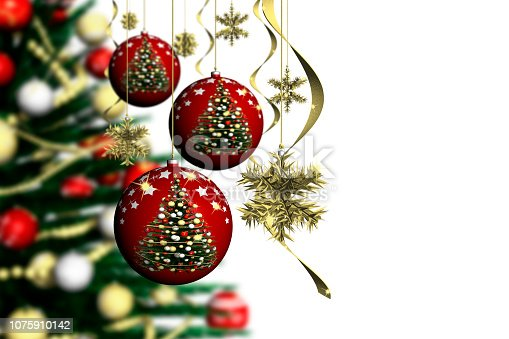 istock Christmas decoration - 3D illustration 1075910142