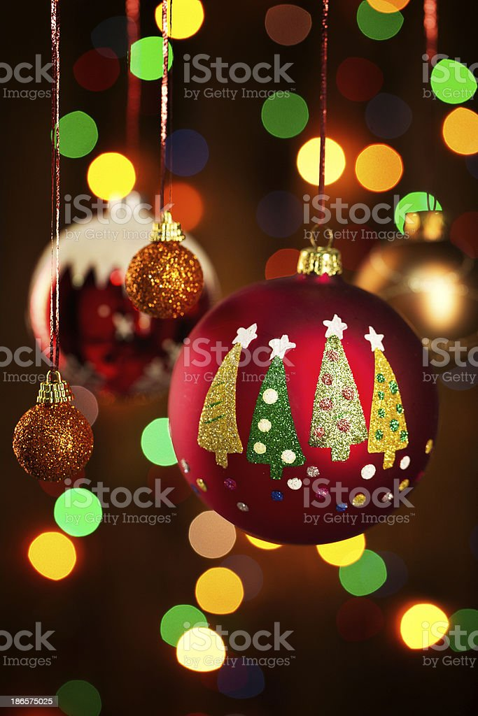 Christmas decoration and copy space royalty-free stock photo