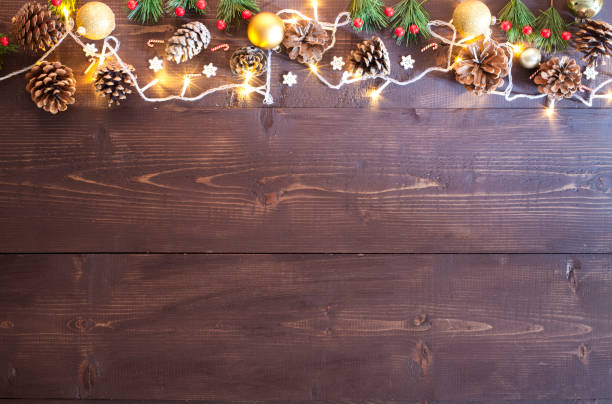 Weihnachts-Dekoration und Licht – Foto