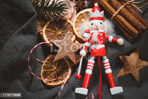 Christmas Decoration and Ornaments and a Nutcracker