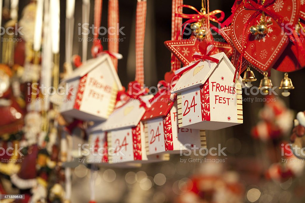 Christmas decoration at the Christkindlmarkt in Vienna royalty-free stock photo