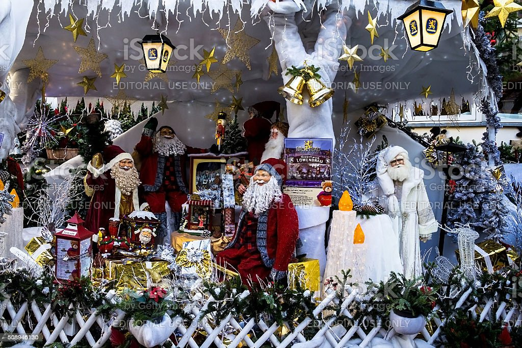 Christmas decoration  at the street in Baden-Baden stock photo