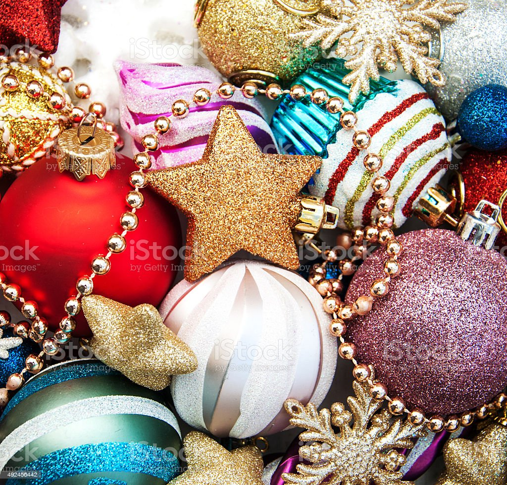 christmas decoration background stock photo