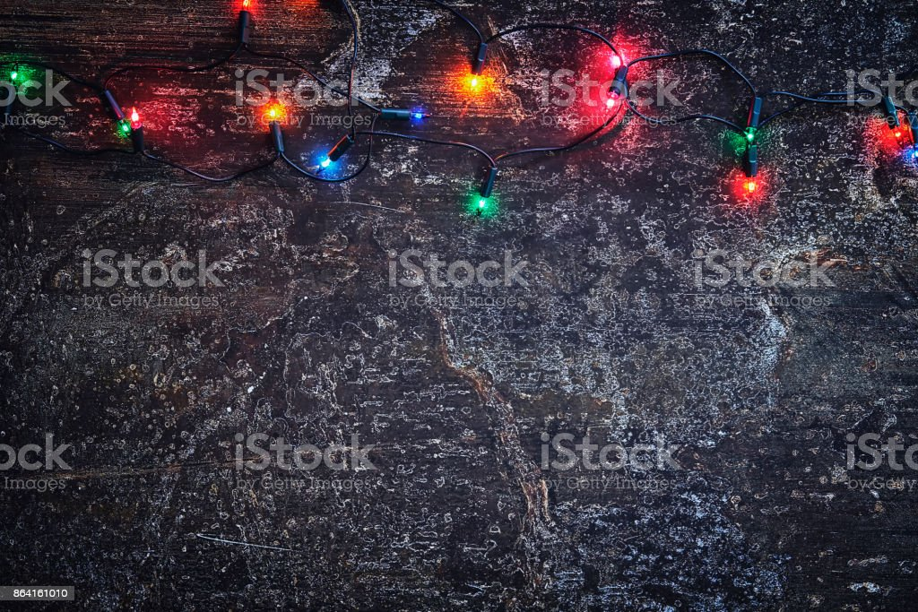 Christmas Decoration Background with Holiday Lights royalty-free stock photo