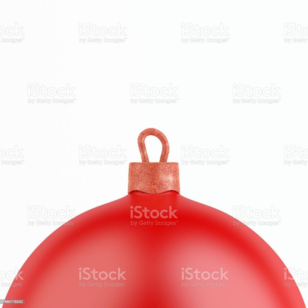 Christmas Decoration Ball on White Background. stock photo