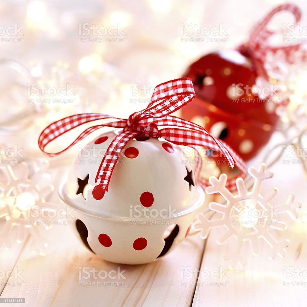 Christmas decoration bell baubles royalty-free stock photo