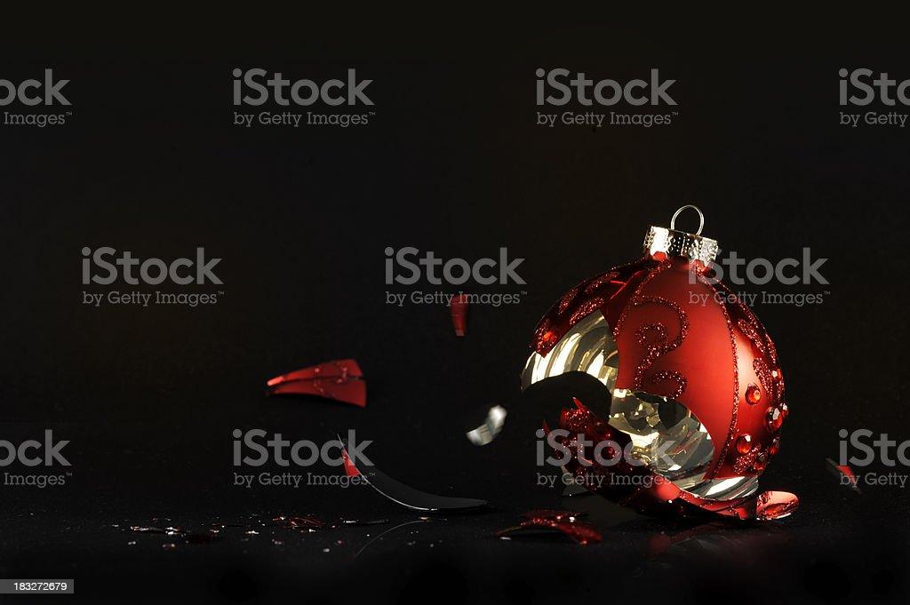 Christmas decoration broken stock photo