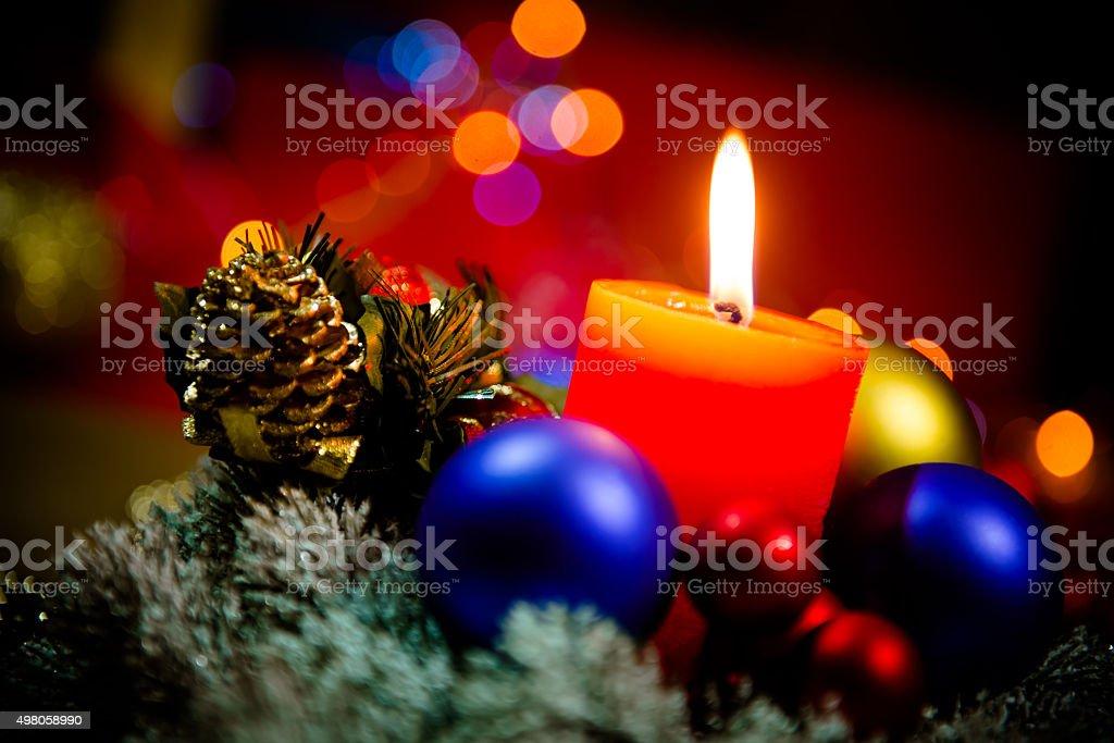 Christmas decoration, Christmas gifts and New Year holiday celebration stock photo
