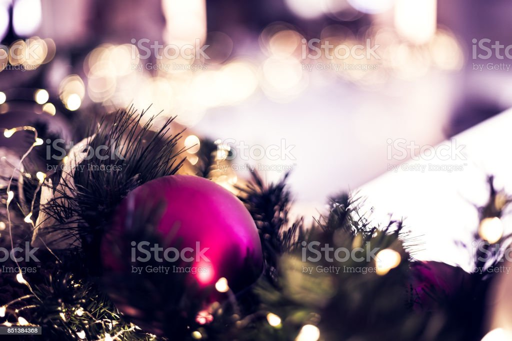 Christmas Decoration Close up stock photo