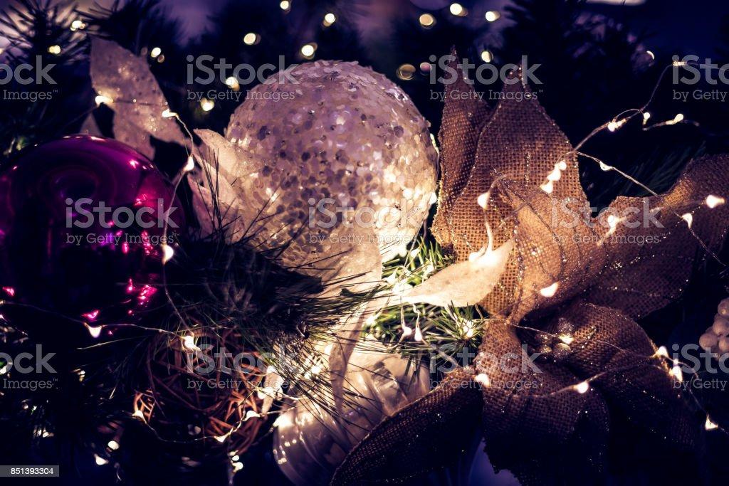 Christmas Decoration Close up stock photo