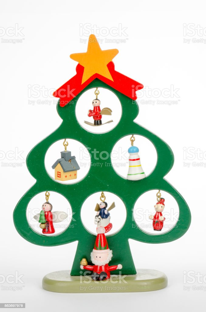 christmas decoration for children on a white background stock photo