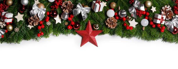 Christmas decoration frame stock photo