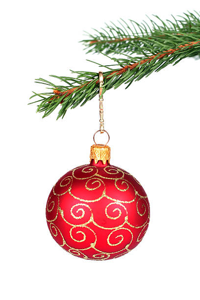 Weihnachtsdekoration hängen auf einem Baum – Foto