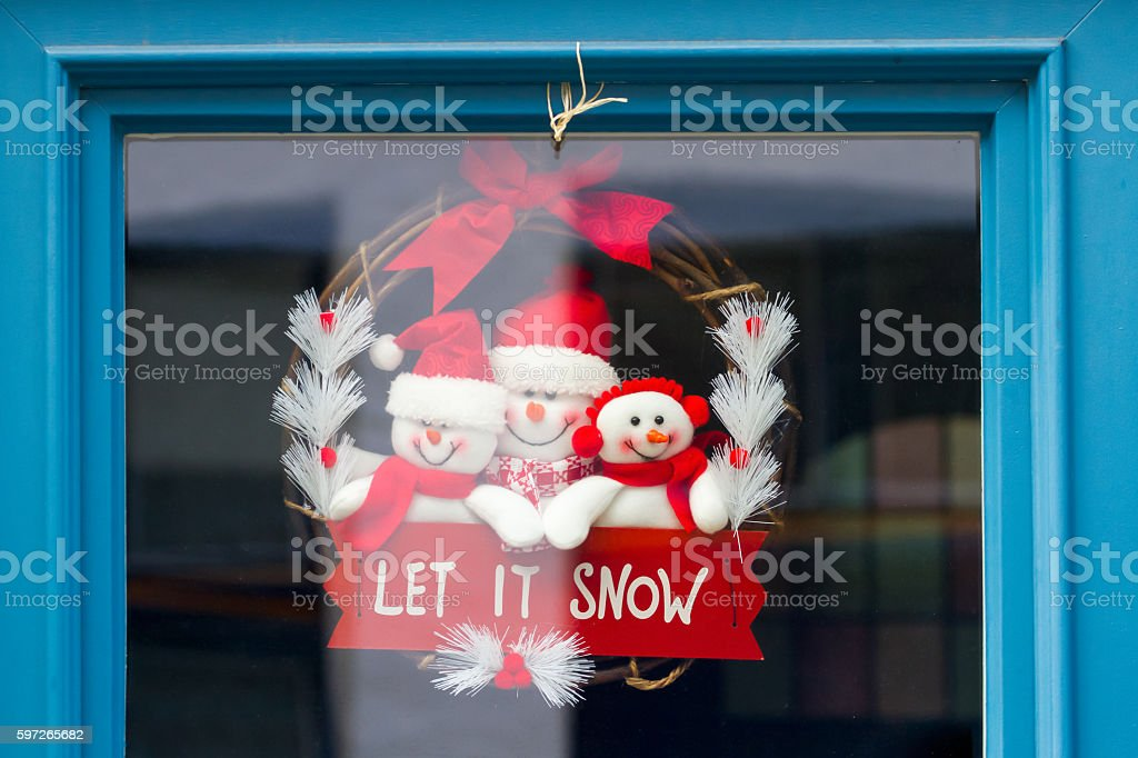 Christmas decoration in a window, Lizenzfreies stock-foto