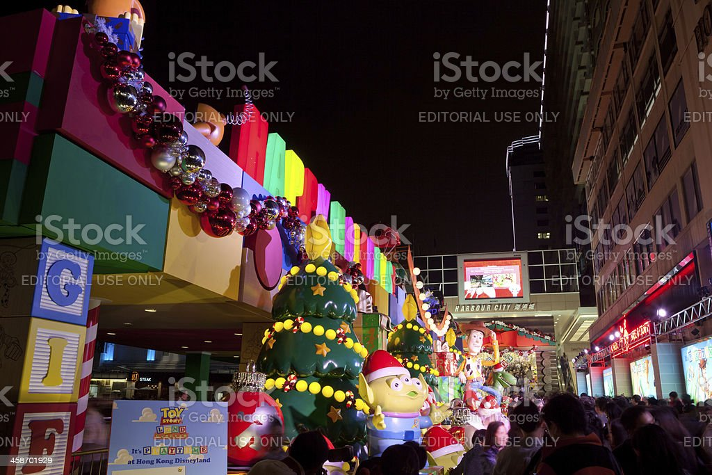 Christmas Decoration in Hong Kong royalty-free stock photo