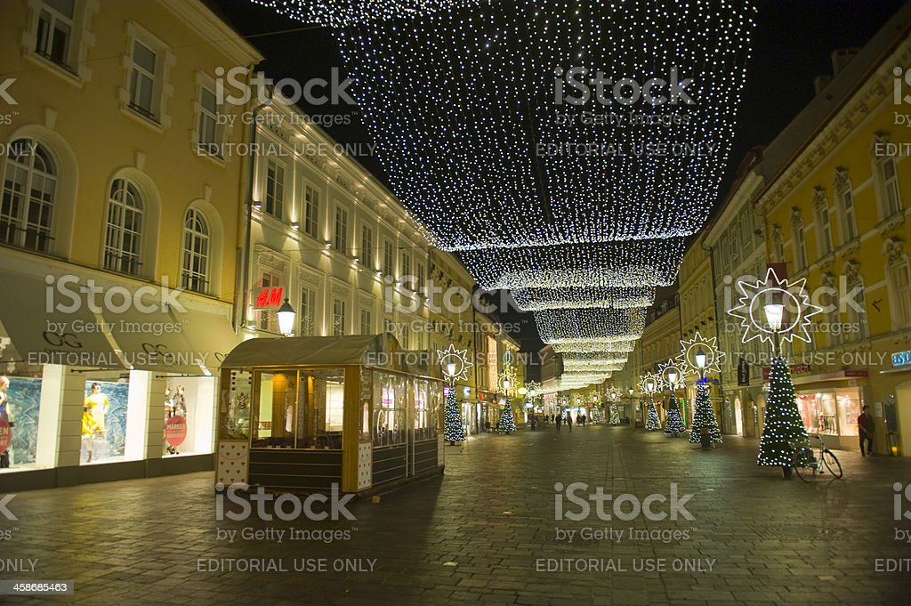 Christmas Decoration in Klagenfurt stock photo