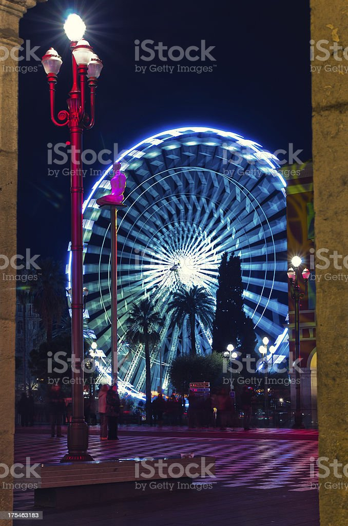 Christmas decoration in Nice, France royalty-free stock photo