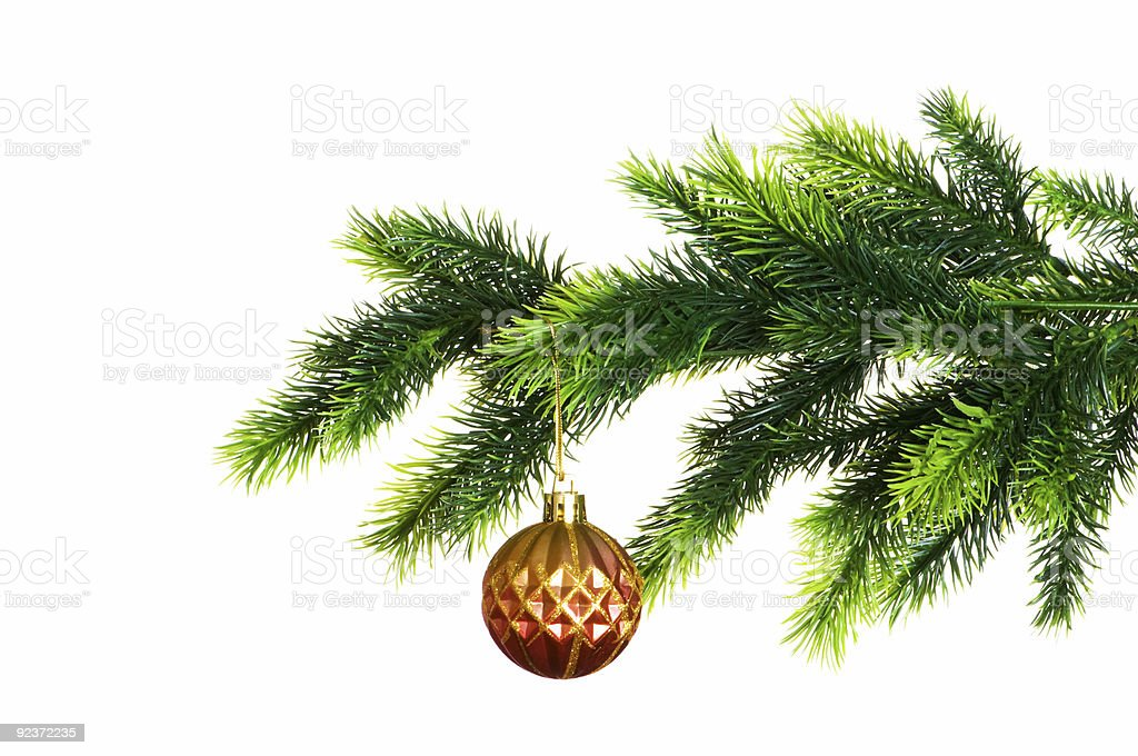 Christmas decoration isolated on the white background royalty-free stock photo