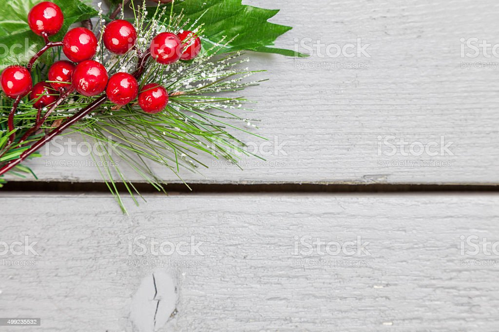 Christmas decoration of holly springs stock photo