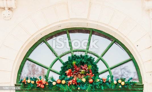 istock Christmas decoration of restaurant in Lviv 1092719026