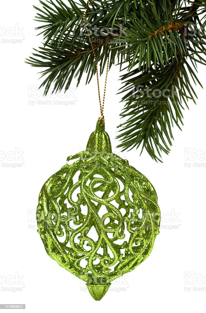 christmas decoration on a fir-tree royalty-free stock photo