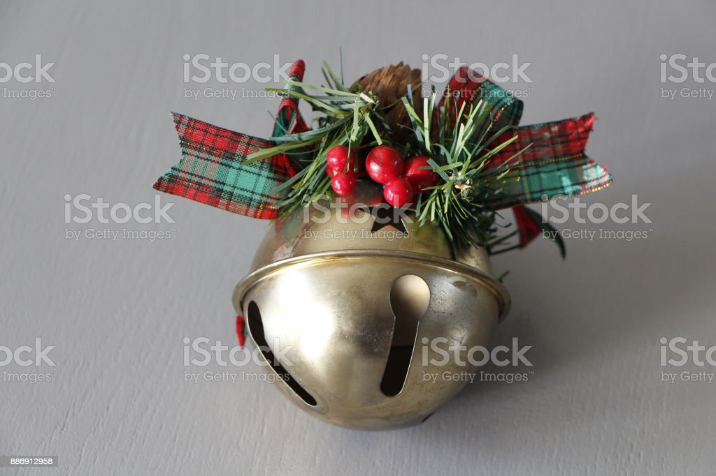 Christmas decoration on a table stock photo