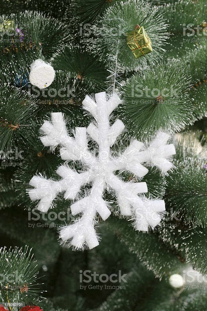 Christmas Decoration on a Tree royalty-free stock photo