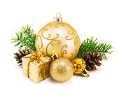 istock Christmas decoration on a white 1051794786
