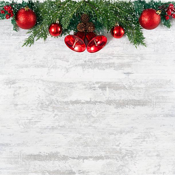 christmas decoration on old grunge wooden board - alte weihnachtsbäume stock-fotos und bilder